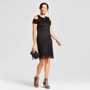 Zac & Rachel Cold Shoulder Lace Sheath Dress